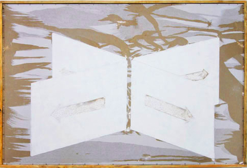 André Komatsu - Sem título #3, da série Soma Neutra (2009) - desenho sobre placa de drywall - 185 x 124 x 5 cm